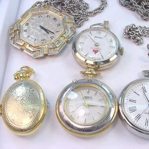 Vintage Antique Lot 8 Pendant or Necklace watches